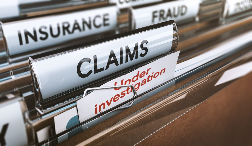 File Folders With Insurance Fraud Claims Under Investigation